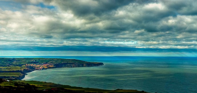 Robin Hoods Bay from above Ravenscar