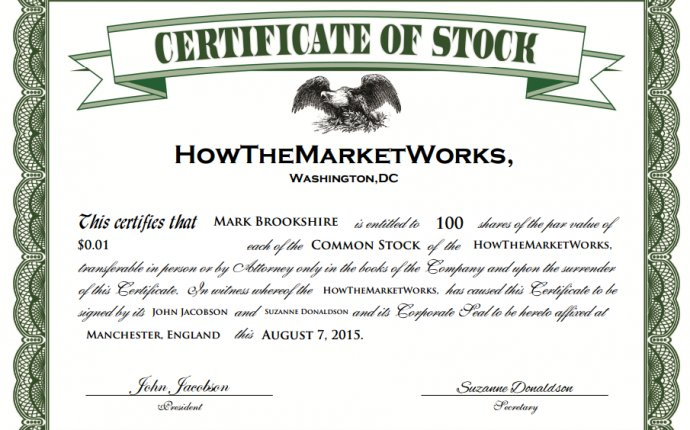 The basics about stocks